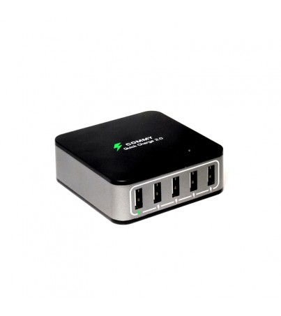 Commy Adaptor AD Station 5 ports + Quick Charger (Black)
