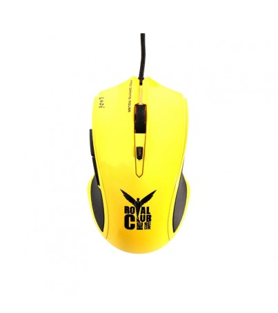 USB Optical Mouse RAPOO (V20, Gaming) Yellow