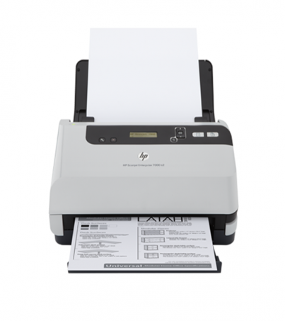 HP Scanjet Enterprise Flow 7000 s2 (L2730B) Sheet-feed Scanner / Scan Speed 45 ppm / Scan Resolution 600 x 600 dpi / ADF 50 shee