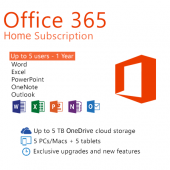 Microsoft (FPP) 6GQ-00757 Office 365 Home English APAC EM Subscr 1YR Medialess P2
