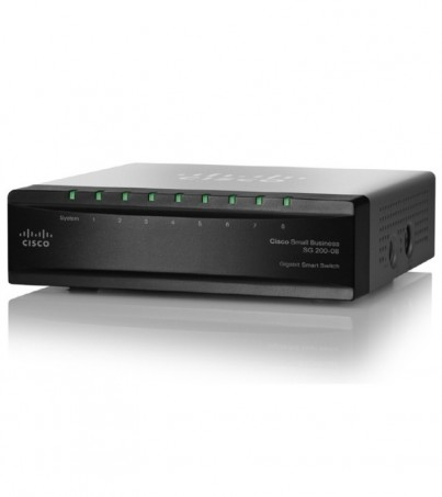 Cisco SLM2008T-EU 8-port 10/100/1000 Gigabit Smart Switch with PD and AC power