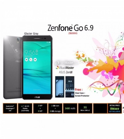 Asus Zenfone Go 6.9Inch 8Gb - White