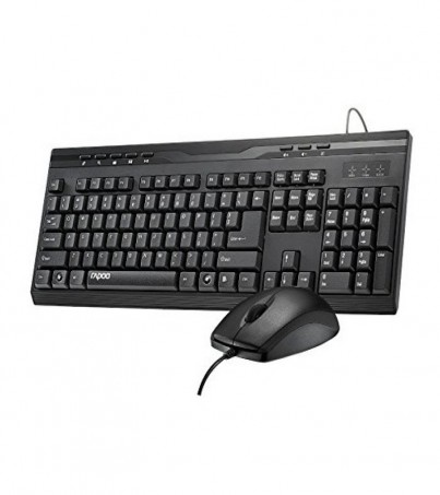 Rapoo NX1710 Wired Optical Combo Keyboard & Mouse - Black