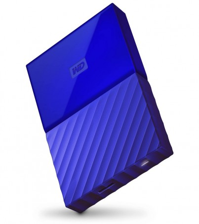 Western Digital New My Passport 2017 4TB (WDBYFT0040BBL-WESN) - Blue