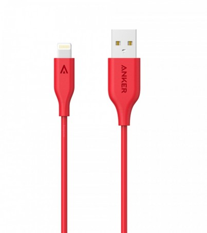Anker PowerLine Lightning For IPHONE/IPAD (3ft / 0.9m) - Red