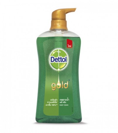 Dettol Gold Shower Gel Pump - Daily Clean 500 ml. สูตร เดลี่ คลีน