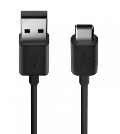 Belkin BEL-F2CU032BT06-BLK 2.0 USB-A To USB-C Charge Cable Also Known as USB Type-C™)