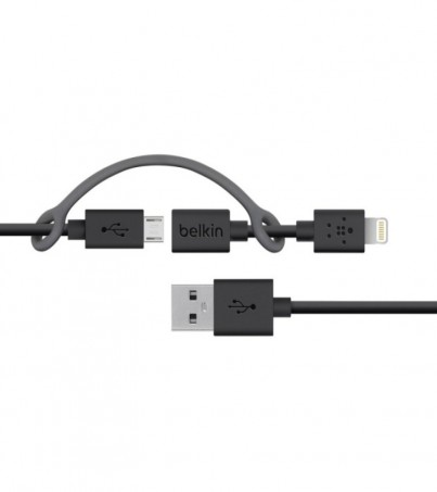 Belkin F8J080bt03-BLK Micro USB-B to Lightning Adapter Sync & Charge Cable 1.2 Meter - Black