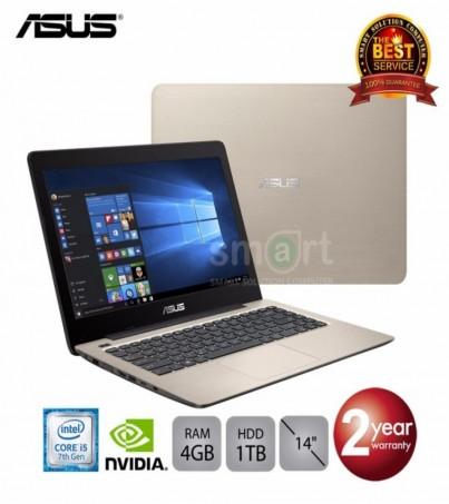 Notebook Asus K456UR-FA146 (Matt Golden) Intel Core i5-7200U 2.5GHz