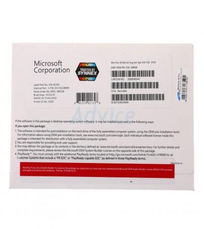 Windows 10 Pro Eng 32 Bit (OEM) FQC-08969