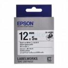 EPSON LK-4WBQ Label EPSON เทปพิมพ์อักษร 12mm ดำพื้นขาว