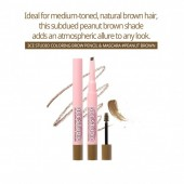 3CE STUDIO COLORING BROW PENCIL&MASCARA PEANUT BROWN