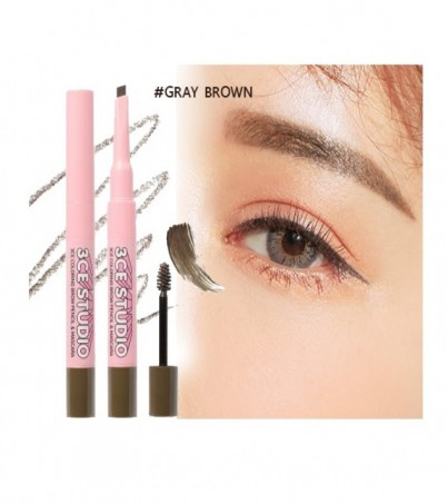 3CE STUDIO COLORING BROW PENCIL&MASCARA GRAY BROWN
