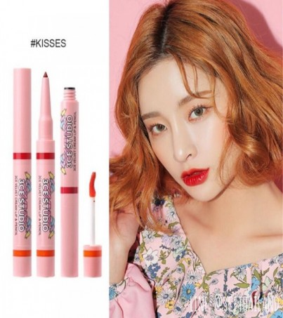 3CE STUDIO VELVET CREAM LIP & PENCIL KISSES