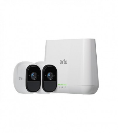 Netgear Indoor/Outdoor HD W ire Free Security System with 2 Cameras (White) VMS4230