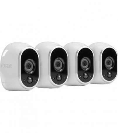 Netgear Indoor/Outdoor HD Wire Free Security System with 4 Cameras VMS3430