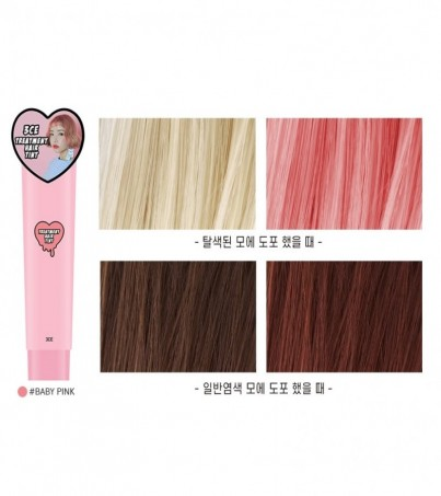 3CE TREATMENT HAIR TINT BABY PINK
