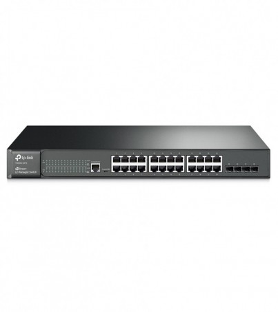 TP-Link JetStream 24-Port Gigabit L2 Managed Switch with 4 SFP SlotsT2600G-28TS(TL-SG3424)