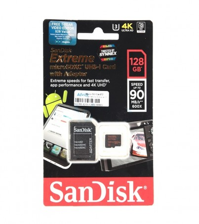 Micro SD 128GB Sandisk Extreme (SDC10 Class 10) 90 MB/s