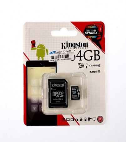 Micro SD 64GB Kingston (SDC10G2 Class 10)