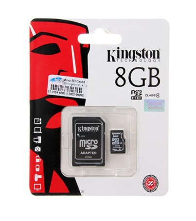 Micro SD 8GB Kingston (SDC4, Class 4)