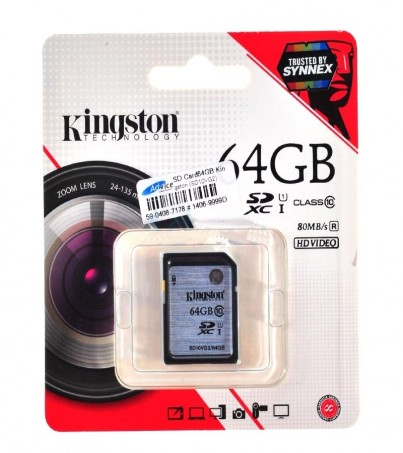 SD Card 64GB Kingston (SD10VG2 Class 10)