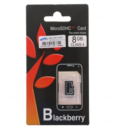 Micro SD 8GB Blackberry (Class 4) No Adapter