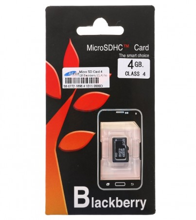 Micro SD 4GB Blackberry (Class 4) No Adapter