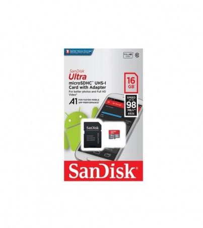 SanDisk MICRO SD ULTRA C10 16GB 98MB/S