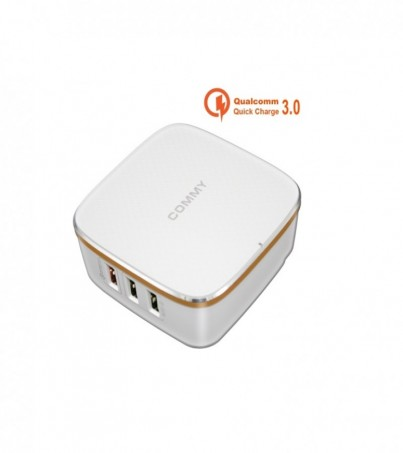 Commy 6-Ports Desktop Charger 6USB ad-q600