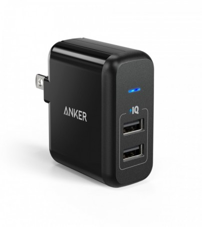 Anker 24W PowerPort2 USB Cable (AKR-B2141J12)(B2141) Black