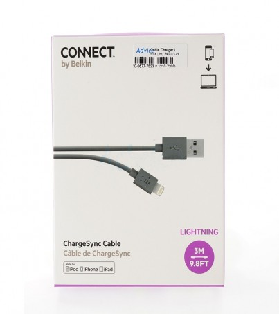 Belkin Cable Charger for iPhone (3M) Gray (F8J023bt3M-GRY)