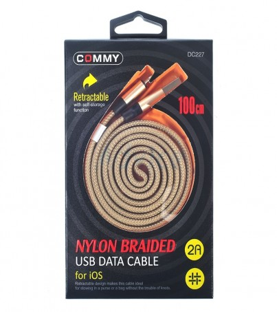 COMMY Cable Charger for iPhone (1M DC227) Gold