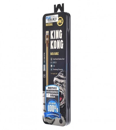 WK Cable Charger for iPhone (1M KINGKONG) Black