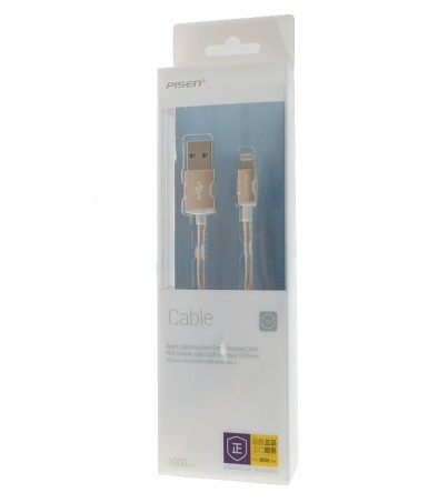 PISEN Cable Charger for iPhone (1M AL06-1000) Gold