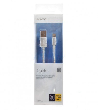 PISEN Cable Charger for iPhone (1M AL06-1000) Silver