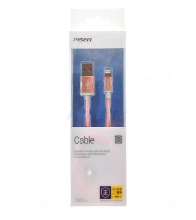 PISEN Cable Charger for iPhone (1M AL06-1000) Pink