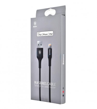 BASEUS Cable Charger for iPhone (1M Rui) Black