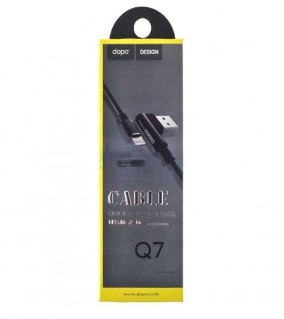 DOPO Cable Charger for iPhone (1M Q7) Black