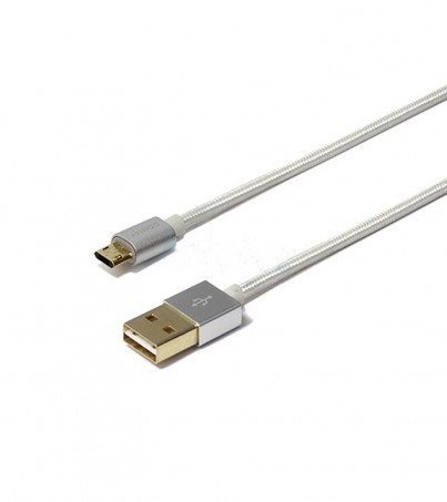 COMMY Cable USB To Micro USB (1M Double-Side) Silver