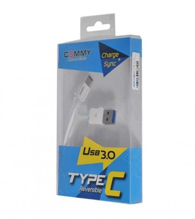 COMMY Cable USB 3.1 to Type-C White