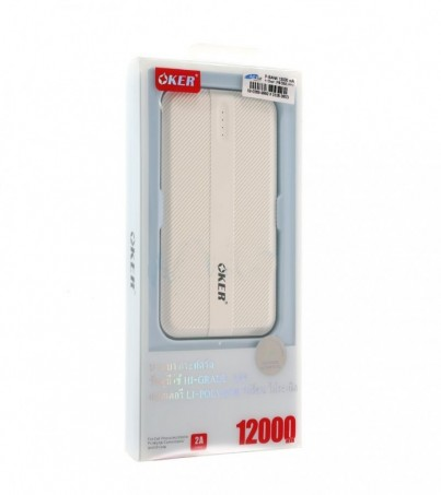 OKER POWER BANK 12000 mAh (PB-569) White
