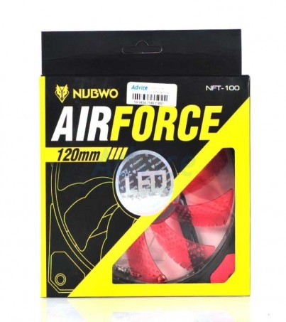 Nubwo FAN CASE Airforce Red LED (12cm)