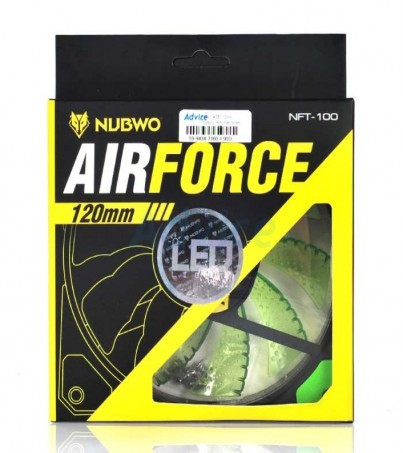 Nubwo FAN CASE Airforce Green LED (12cm)