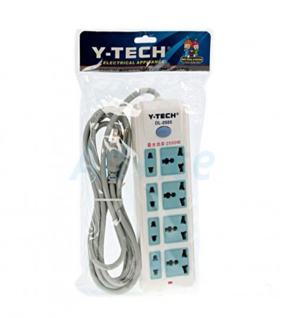 Y Tech POWER BAR DL-2020 (3M 8ช่อง) - White