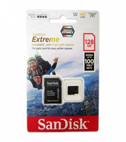 SanDisk MICRO ACTCAM EXTREME 128GB 100MB/60MB