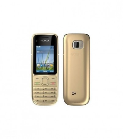 (Refurbished) Nokia C2 - Gold