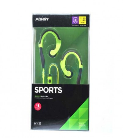 Pisen Small Talk Sport Earphone for Samsung (R101) - Green