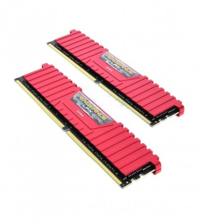 Corsair RAM DDR4(2400) 8GB. (4GBX2) Vengeance LPX - Red