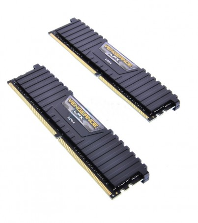 Corsair RAM DDR4(2400) 8GB. (4GBX2) Vengeance LPX - Black